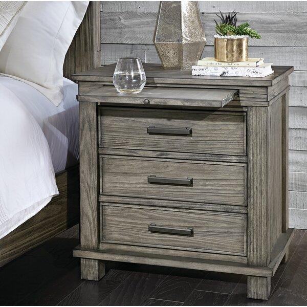 Sayler 3 Drawer Nightstand by Gracie Oaks