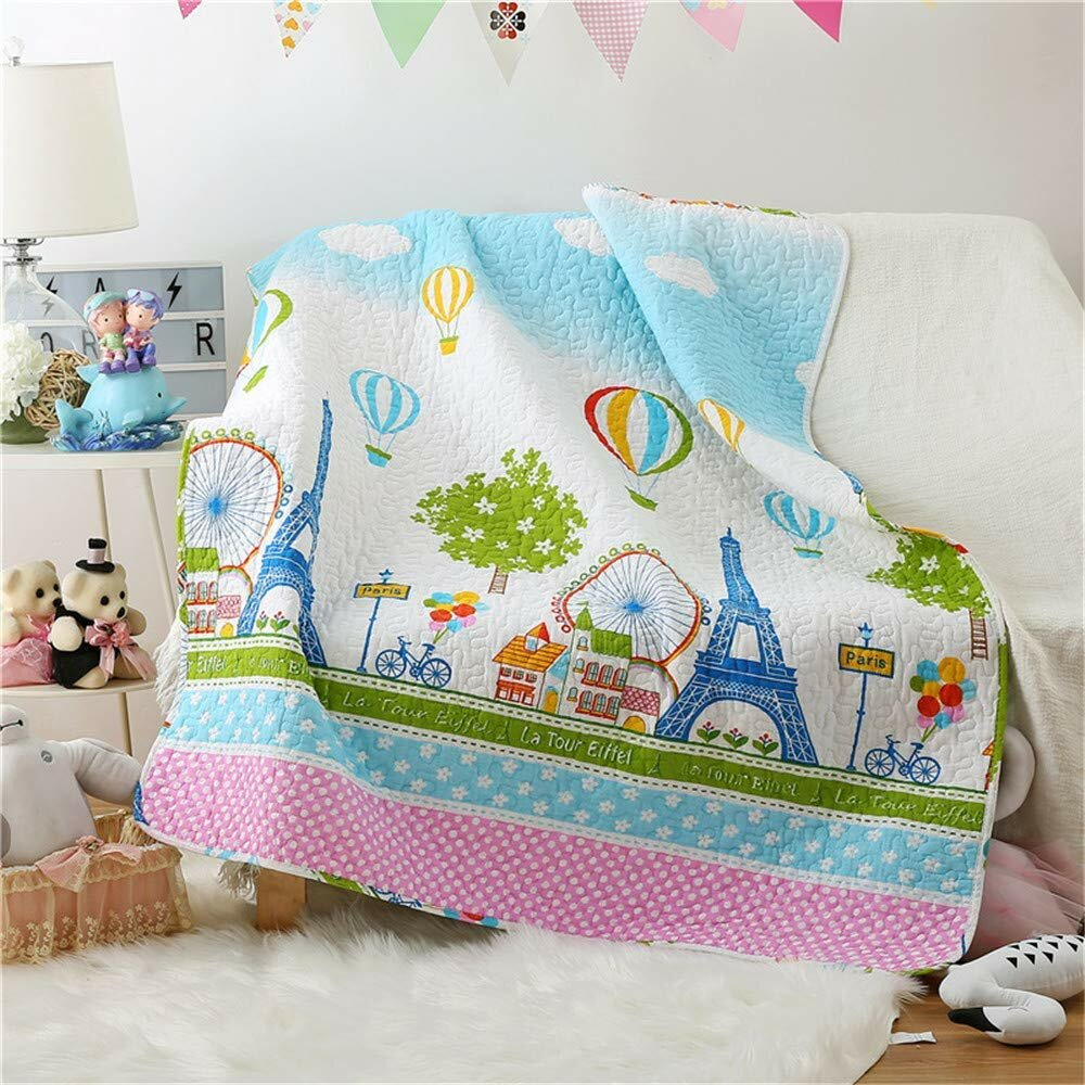 Isabelle & Max Laforest Paris Hot Air Balloon Baby Toddler Quilt