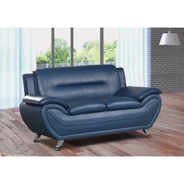 #2 Gatto Modern Living Room Faux Loveseat By Orren Ellis Great price