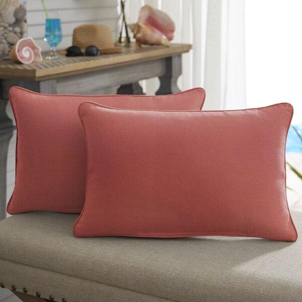 Winfred Sunbrella Indoor / Outdoor Lumbar Pillow (Set of 2)