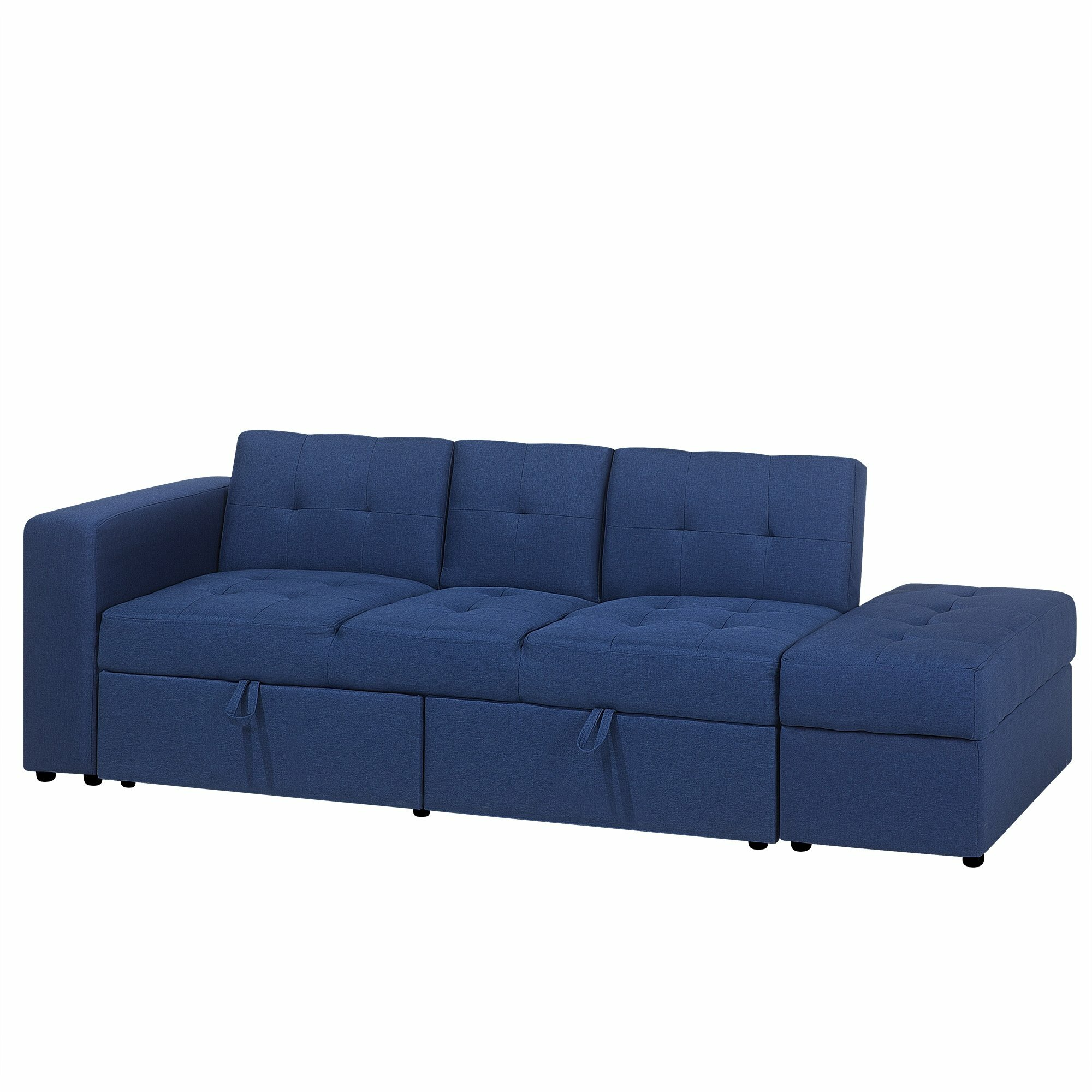 Fantastic Sectional Sofa Bed With Ottoman Light Grey Falster Ocoug Best Dining Table And Chair Ideas Images Ocougorg