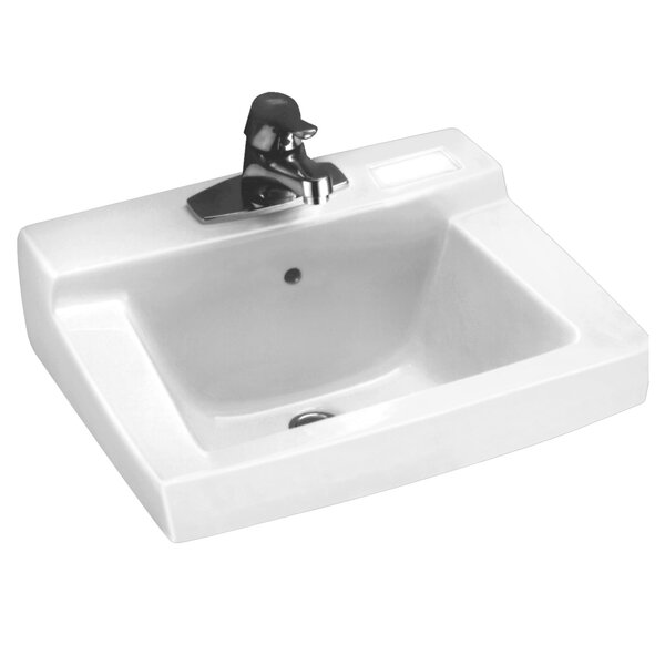 Declyn Ceramic 19 Wall Mount Bathroom Sink with Ov