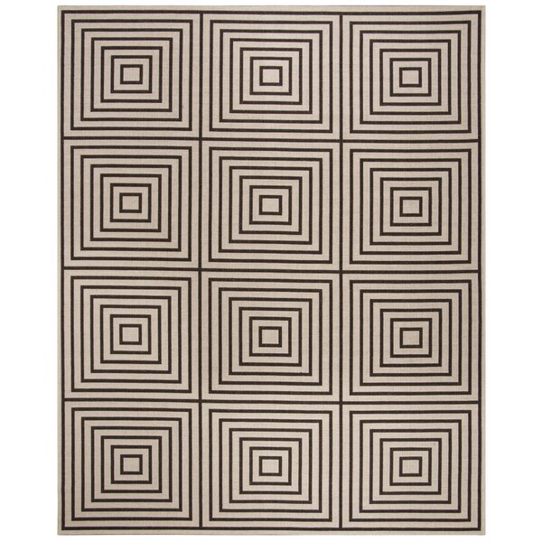 Kallias Contemporary Gray/Beige Area Rug by Brayden Studio