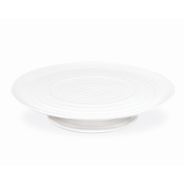 Sophie Conran White Footed Cake Plate Platter by Portmeirion