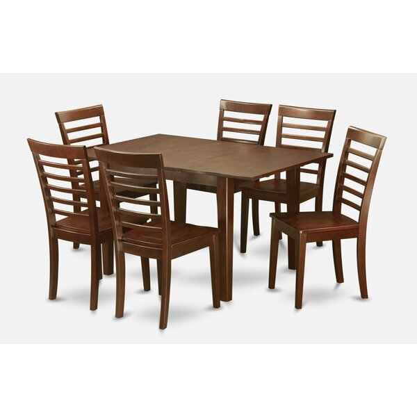 Lorelai 7 Piece Solid Wood Dining Set by Alcott Hill