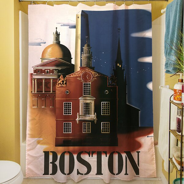Boston Architecture Shower Curtain by Manual Woodworkers & Weavers