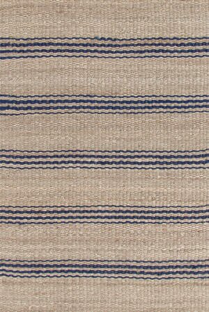 Hand Woven Beige/Blue Area Rug by Dash and Albert Rugs