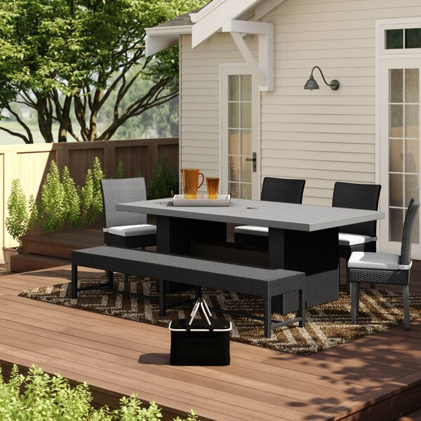 Fernando Outdoor 5 Piece Dining Set with Cushions by Sol 72 Outdoor