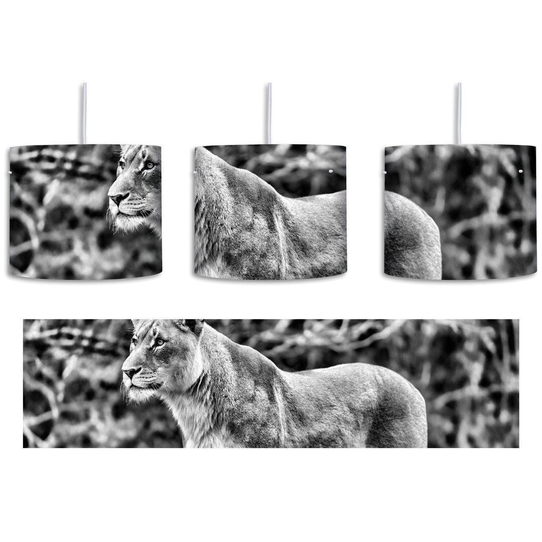 Majestic Lioness 1-Light Drum Pendant
