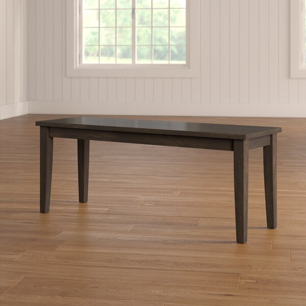 Alverson Wood Bench by August Grove