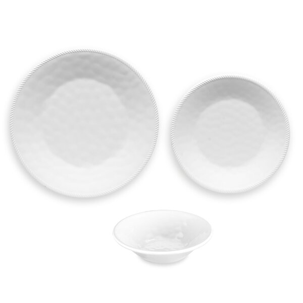 Exmore 12 Piece Melamine Dinnerware Set, Service for 4 by Breakwater Bay