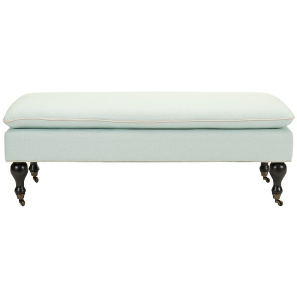 Maggie Robins Egg Pillowtop Upholstered Bench by Safavieh