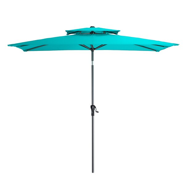 Lyndon 5' x 9' Rectangular Market Umbrella (Set of 2) by Rosecliff Heights Rosecliff Heights