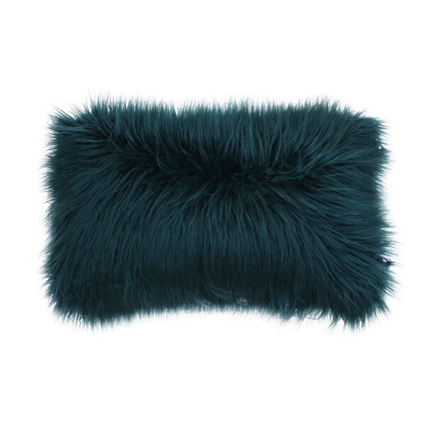 Vanbuskirk Faux Fur Lumbar Pillow by Mercury Row