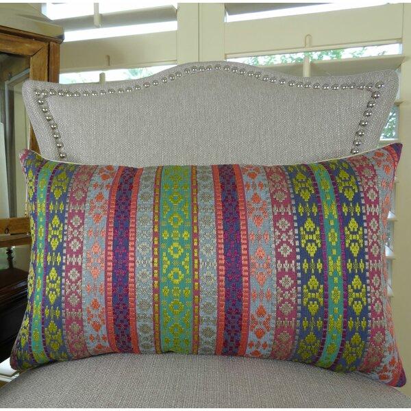 Fuchsia Stripes Lumbar Pillow by Plutus Brands