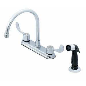 Oakbrook Collection Double Handle Deck Mounted Kitchen Faucet with Side Spray
