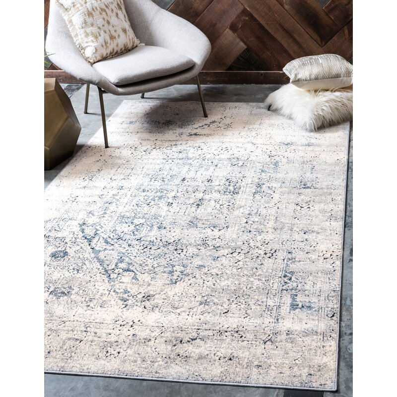 Abbeville Gray Navy Blue Area Rug Amp Reviews Birch Lane