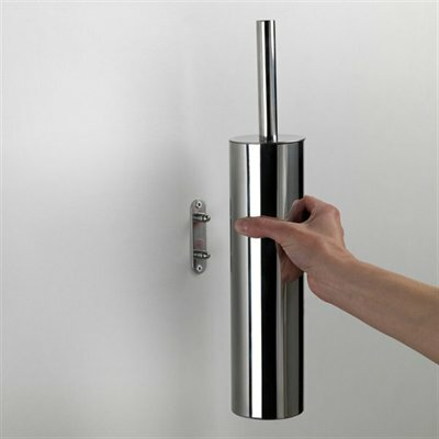 Edera Wall Mounted  Toilet Brush and Holder by Gedy by Nameeks