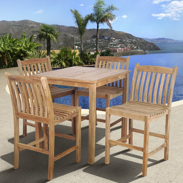 Amazonia Oregon Teak 5 Piece Dining Set by International Home Miami