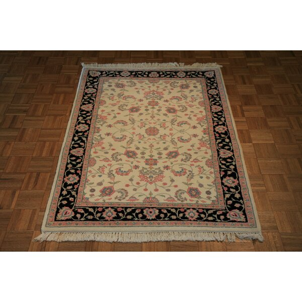 One-of-a-Kind Raines Hand-Knotted Ivory Area Rug by Astoria Grand
