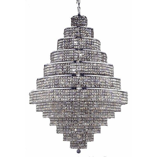 Bratton 38-Light Crystal Chandelier by Rosdorf Park