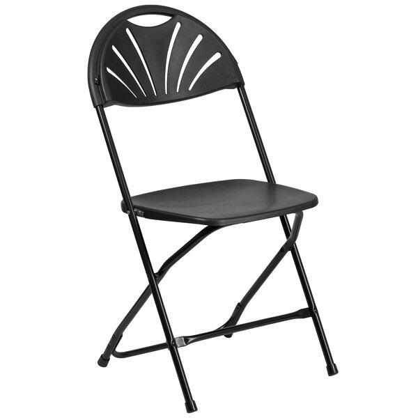 Laduke Fan Back Plastic Folding Chair by Symple Stuff