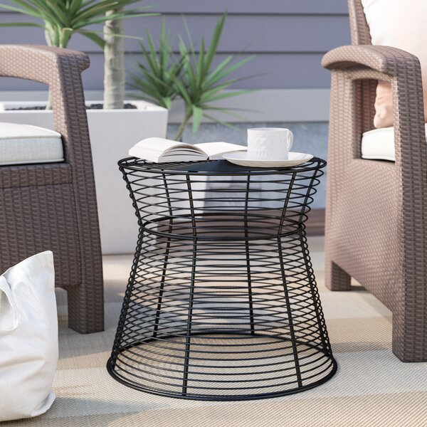 Derose Metal Wire Stool or Side Table by Mercury Row