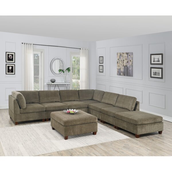 Ivanbrook Reversible Modular Sectional With Ottoman By Ebern Designs