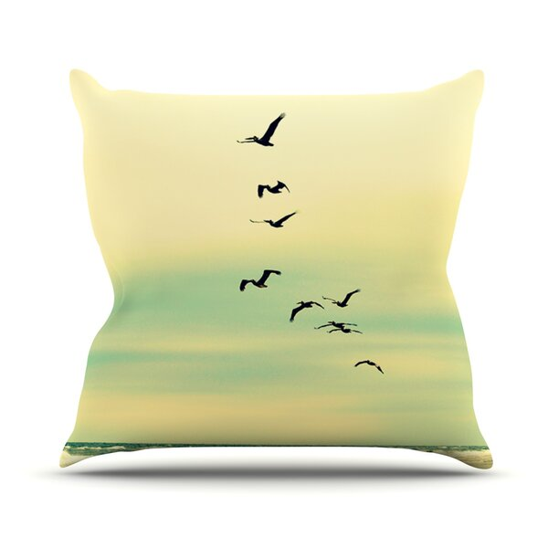 Across The Endless Sea Outdoor Throw Pillow by East Urban Home