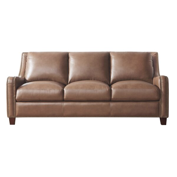 Davon Leather Sofa by 17 Stories