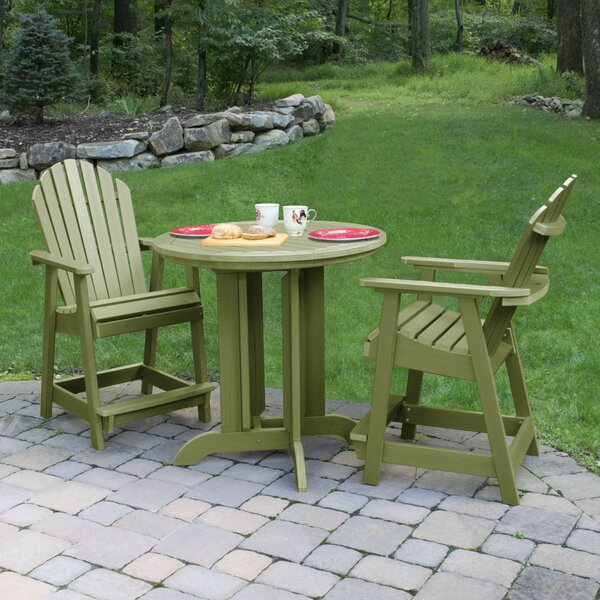 Wyrick 3 Piece Dining Set by Breakwater Bay