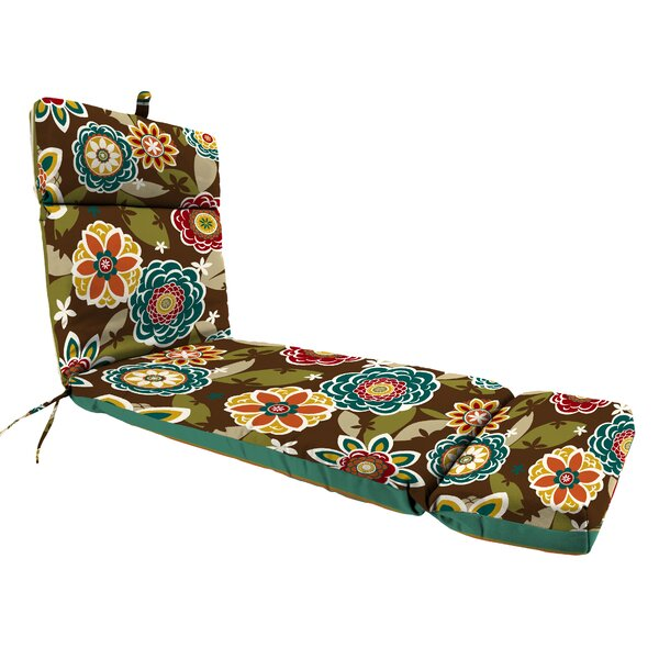 Reversible Polyester Indoor/Outdoor Chaise Lounge Cushion by Latitude Run