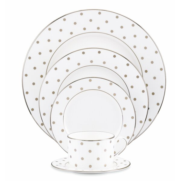 Larabee Road Platinum Bone China 5 Piece Place Setting, Service for 1 by kate spade new york