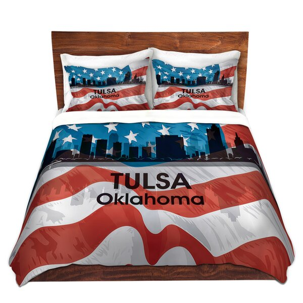 City VI Tulsa Oklahoma Duvet Cover Set