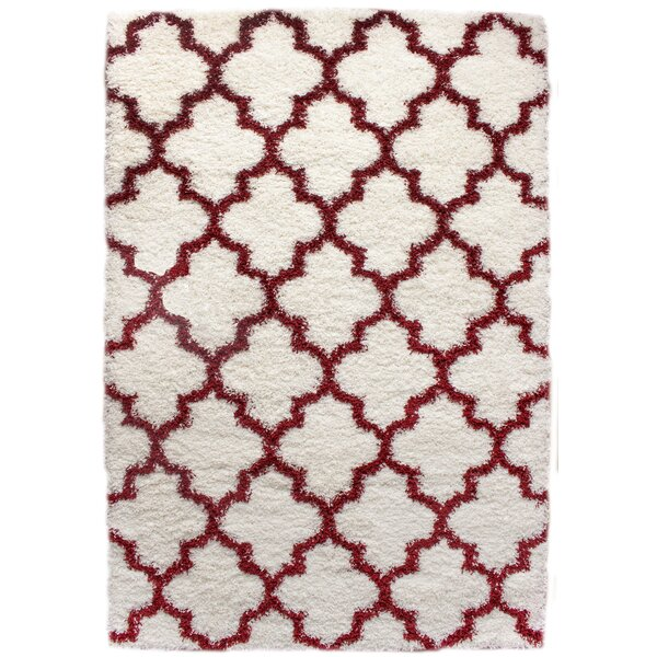 Keithsburg White/Red Area Rug by Andover Mills