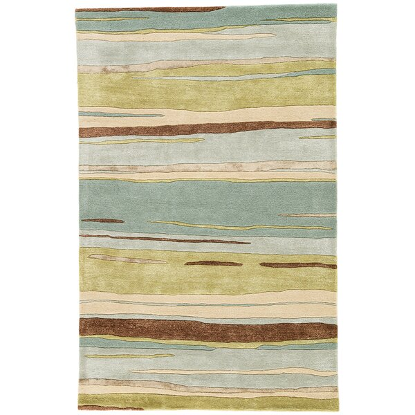 Williamsfield Hand-Tufted Green/Blue Area Rug by Red Barrel Studio