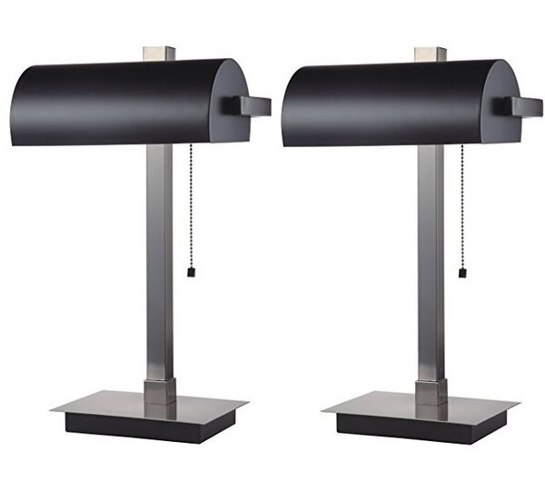 Lewie 22 Banker Table Lamp (Set of 2) by Latitude Run