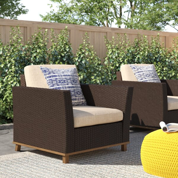 Midland Patio Chair with Cushions (Set of 2) by Zipcode Design