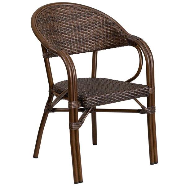 Shelie Modern Rattan Restaurant Patio Chair by Bayou Breeze Bayou Breeze