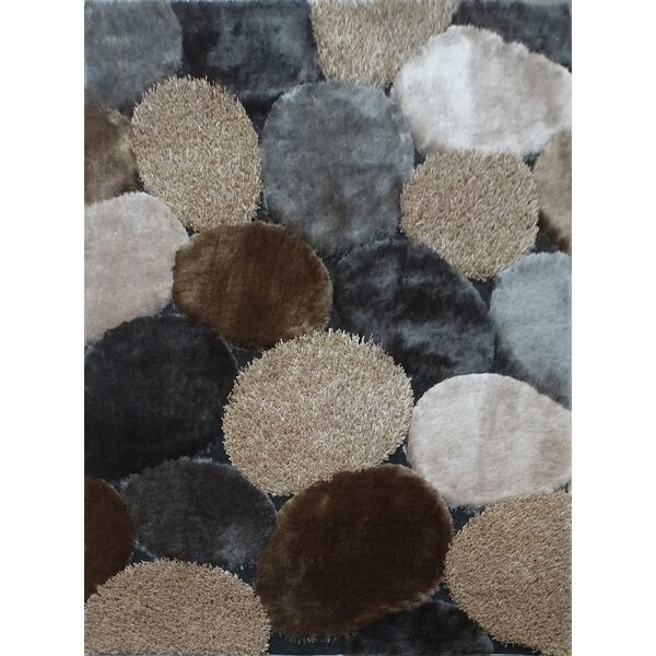 Dascomb Geometric Design Hand-Woven Gray/Brown Area Rug by Foundry Select
