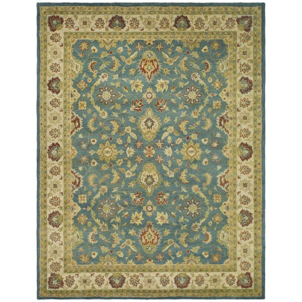 Antiquities Hand-Woven Wool Blue/Beige Area Rug by Safavieh