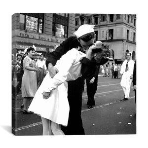 Kissing the War Goodbye Photographic Print on Canvas by Latitude Run