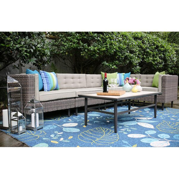 Kenn 6 Piece Sunbrella Sectional Seating Group with Cushions by Brayden Studio