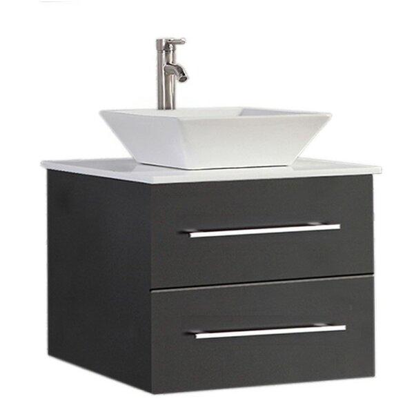 Govea Wall Mounted Modern 24 Single Bathroom Vanity Set by Ivy Bronx