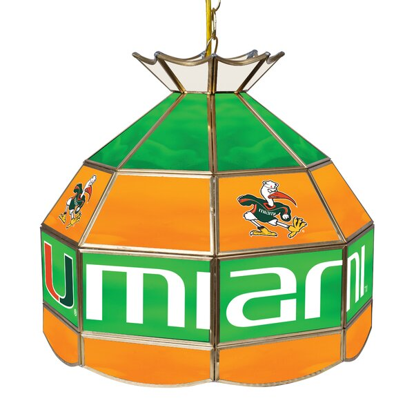 University of Miami 1-Light Pool Table Lights Pendant by Trademark Global