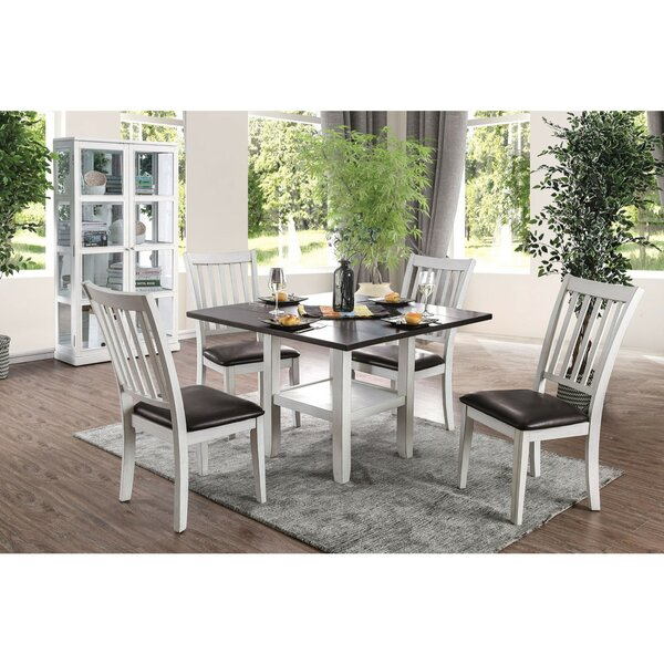 Slavens Transitional Solid Wood Dining Table by Breakwater Bay