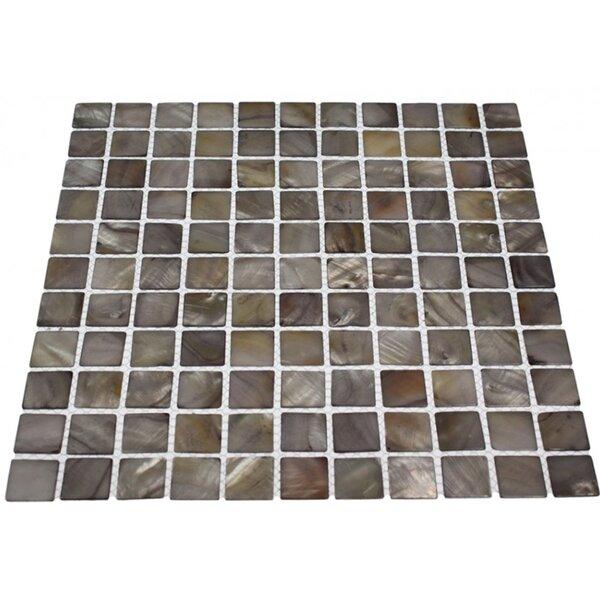 Noburu 1 x 1 Glass Pearl Shell Mosaic Tile in Gray by Splashback Tile