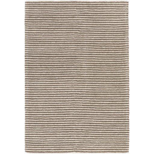 Acton Hand-Woven Dark Brown/Medium Gray Area Rug by Langley Street