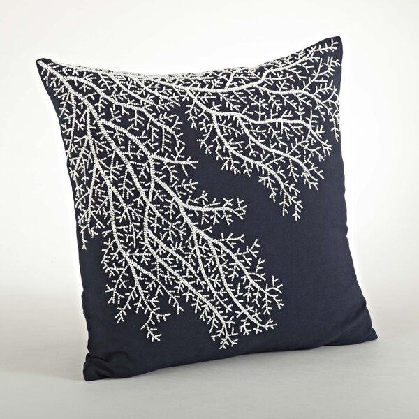 Saint-Martin Beaded Cotton Throw Pillow by Saro