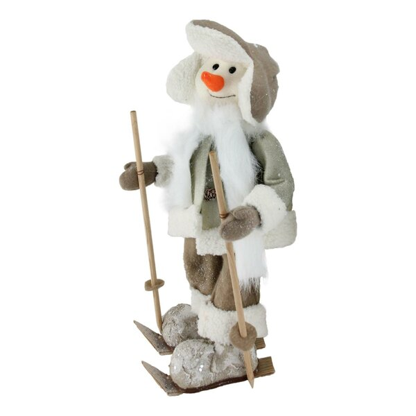 5 Piece Acyrlic Snowman Ice Skating Set with Lamp post Home Interiors